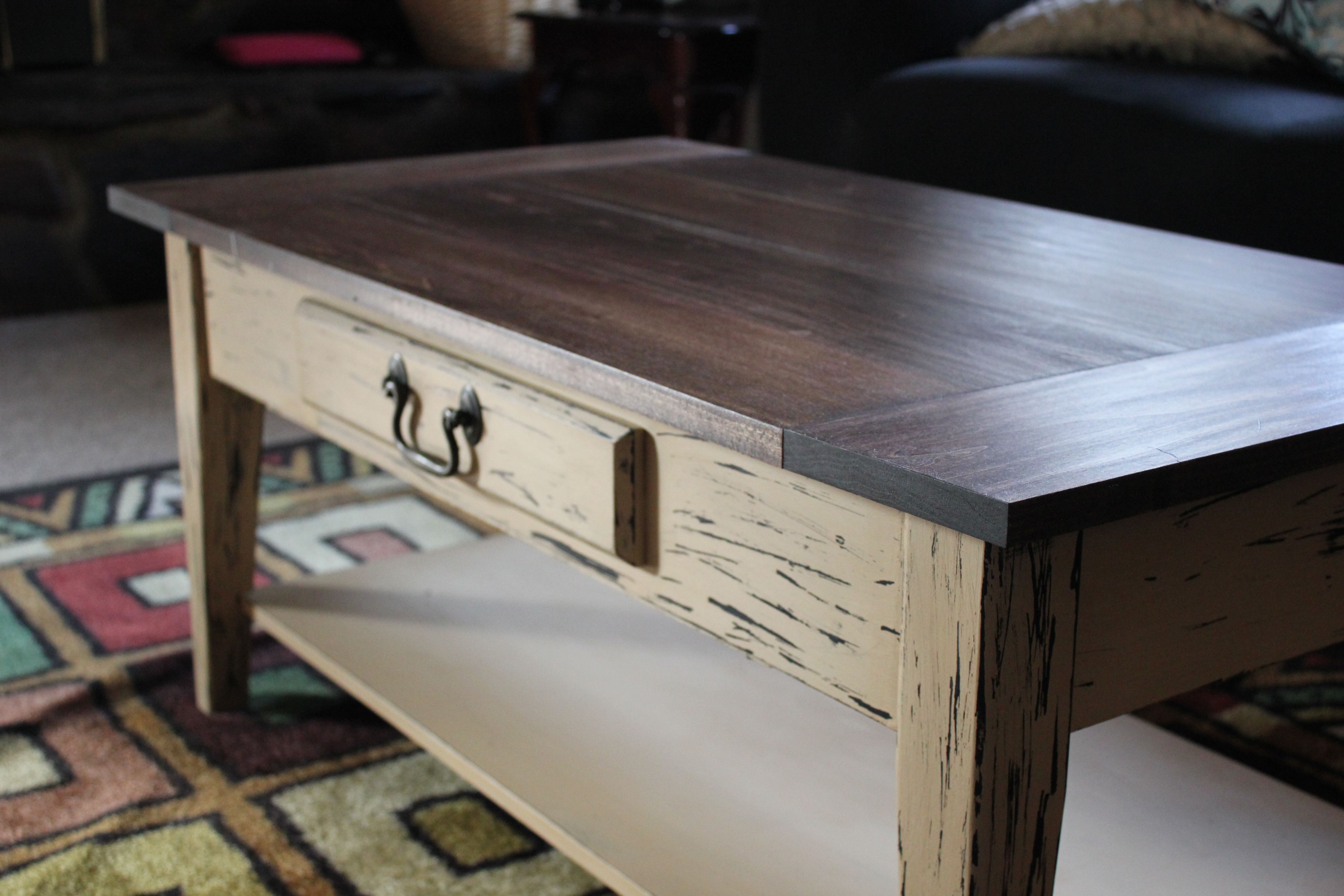 Table top redux diy craft addiction refinished coffee table geotapseo Image collections