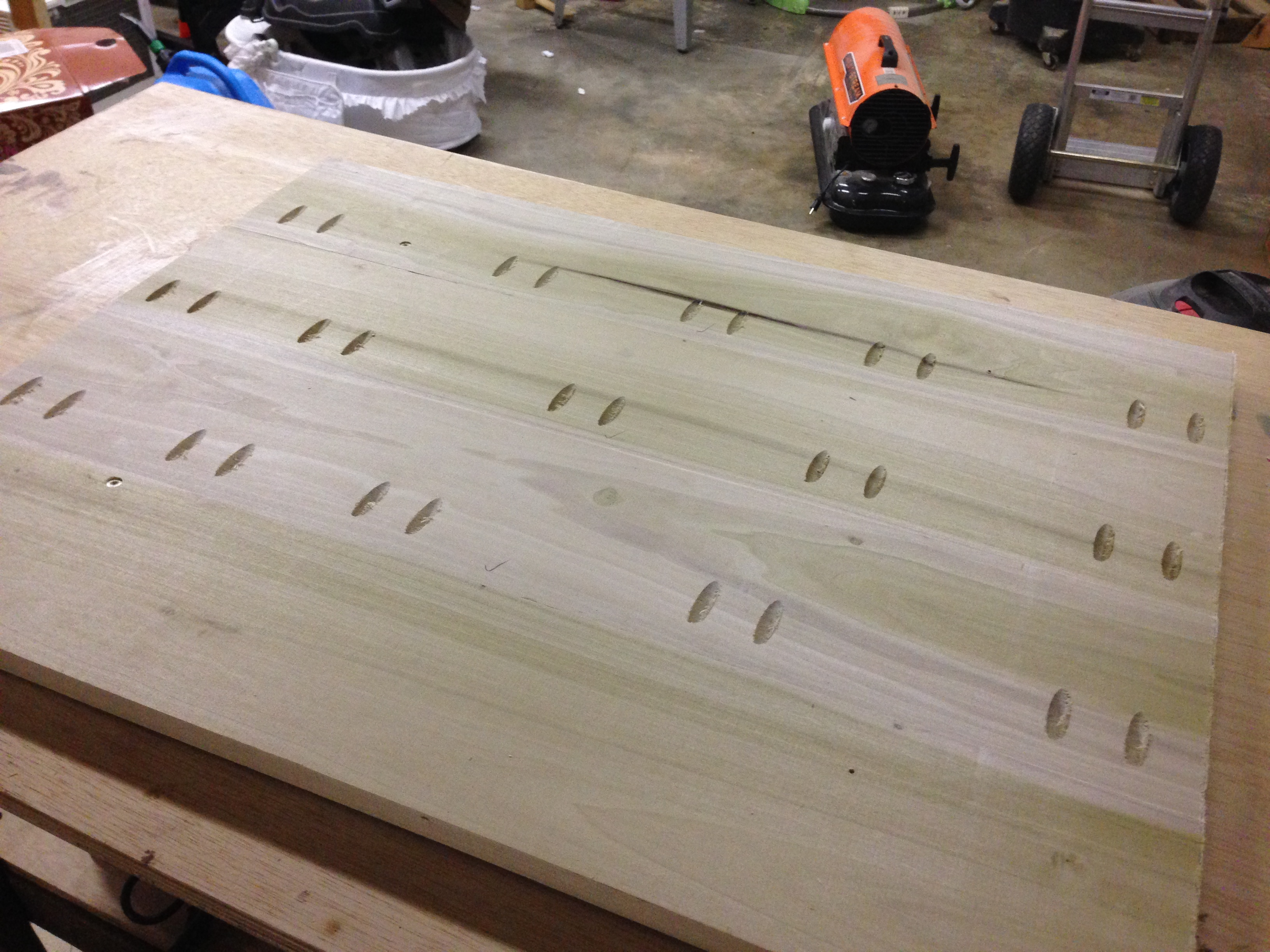 Perfect Pocket Holes. Coffee Table Top Finished